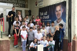 Matej Tóth na ZŠ Vinosady.