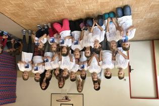 Odovzdávanie grantu na ZŠ v Odoríne